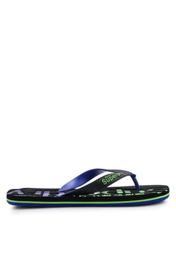 Superdry black Scuba Faded Logo Flip Flops 6DBA0SH76A6037GS_1