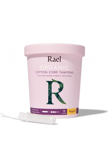 Rael Rael Organic Cotton Tampons with Plant-based Compact Applicator - Regular 18s 9E33DES13925F7GS_1