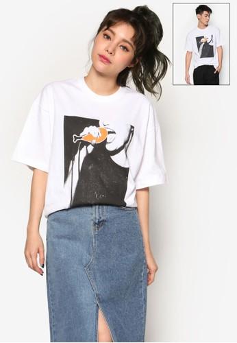 炸鷄esprit台灣網頁搖滾風團T 恤, 服飾, 上衣