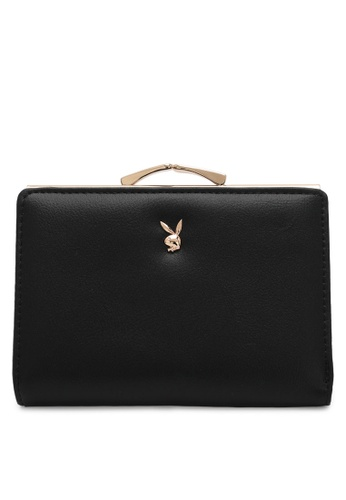 PLAYBOY BUNNY black Women's Purse With Coin Compartment 19F1FAC2524413GS_1
