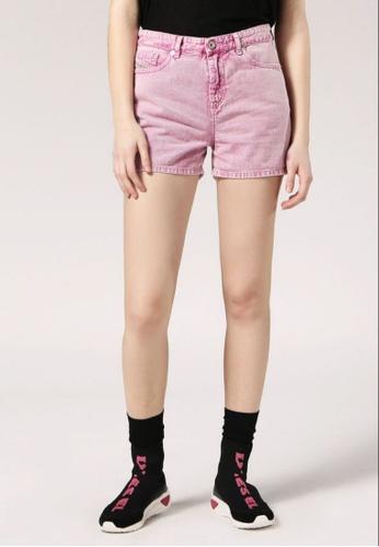 Diesel pink De-Kronos Regular Waist Shorts With Cutouts 74782AA802AB4FGS_1