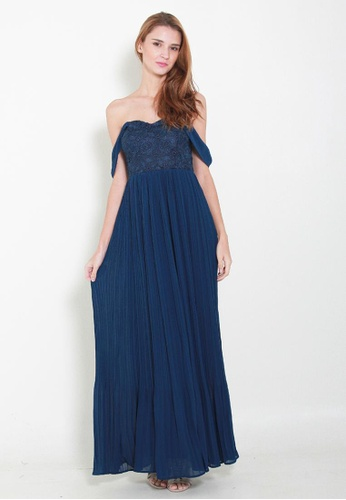 Leline Style blue Molly Maxi Lace Dress LE802AA42WVDSG_1