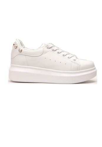 Crystal Korea Fashion 白色 韓國製拼珍珠百搭休閒白鞋 9330DSHF4866ADGS_1