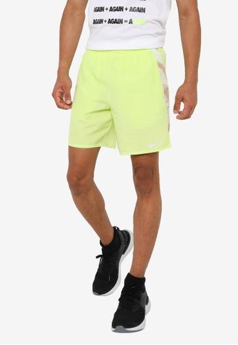 Nike yellow As Men Running Shorts 36C7BAA9D905D1GS_1