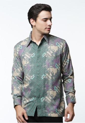 Waskito Kemeja Batik Semi Sutera - KB 17684 - Green