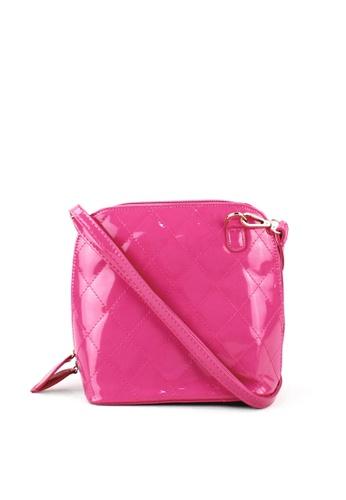 OOTD pink Plaid Vintage Shoulder Body Bag OO654AC36ICTPH_1