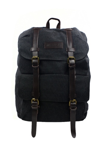Chase Fashion black and grey Francis Canvas Backpack CH547AC33QBIPH_1