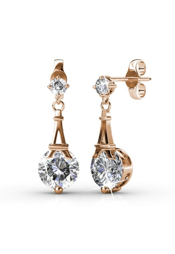 Her Jewellery Paris Earrings (Rose Gold) - Made with premium grade crystals from Austria HE210AC0FSTGSG_1