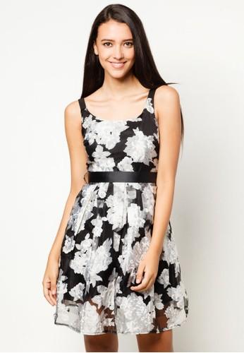花卉印esprit holdings花肩帶連身裙, 服飾, 服飾
