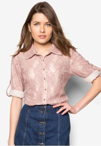 蕾絲長袖上衣, 服飾, 上zalora taiwan 時尚購物網衣