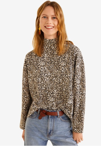 ed5bed7c2ae6b Shop MANGO Leopard Print Sweater Online on ZALORA Philippines
