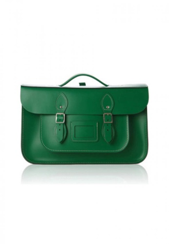 Leather Satchel green Leather Satchel Co - 14 inch 3WAY Satchel Briefcase-Sherwood Green LE783AC56OHNHK_1