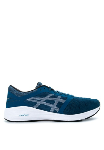 Asics black and white and blue RoadHawk FF Running Shoes AS445SH59IDGPH_1
