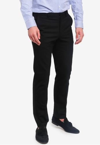 Burton Menswear London 黑色 修身長褲 1A75FAA287A91AGS_1