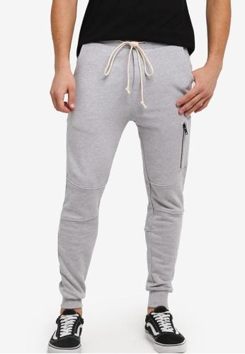 Flesh IMP grey Side Zip Dalma Jogger Pants FL064AA0SJO2MY_1