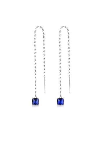 SUNRAIS silver High quality Silver S925 silver simple design earrings 677ECAC0A5FE9FGS_1
