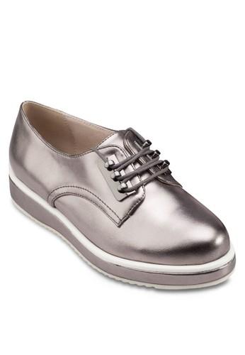 撞色厚底亮面運動鞋, 女esprit hk鞋, 鞋