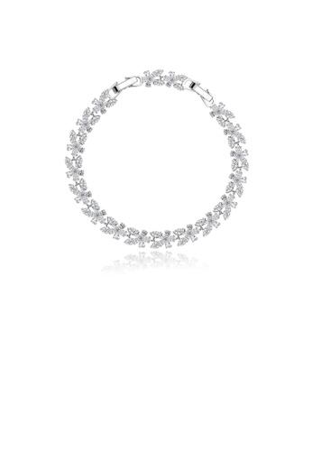 Glamorousky white Fashion and Elegant Flower Cubic Zirconia Bracelet 5EC70AC08729FFGS_1