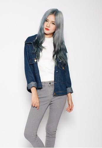 Seoul in Love blue YeJun Denim Coat 6BC85AAF3ED8D2GS_1