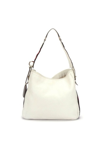 Gucci white Pre-Loved gucci Gucci Webbing Line One Shoulder Bag in White 21813AC5FC0764GS_1