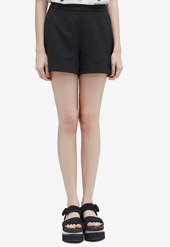 Hopeshow black Basic Tailored Shorts 879A8AA6760859GS_1