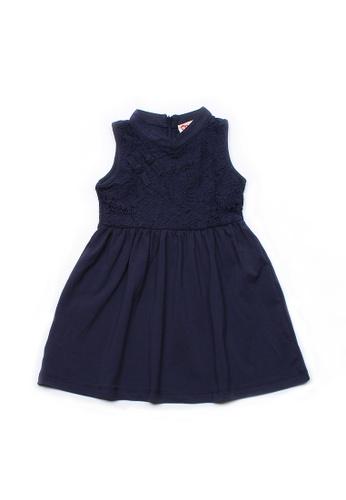Mini Moley navy Oriental Cheongsam Inspired Girl's Lace Dress 6FC13KA172B703GS_1