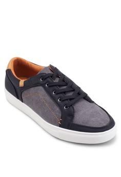 Mixed Material Sneaker