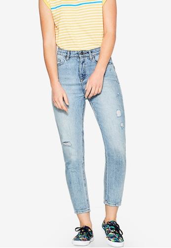 ESPRIT blue Cropped Denim Jeans ES374AA83COEMY_1