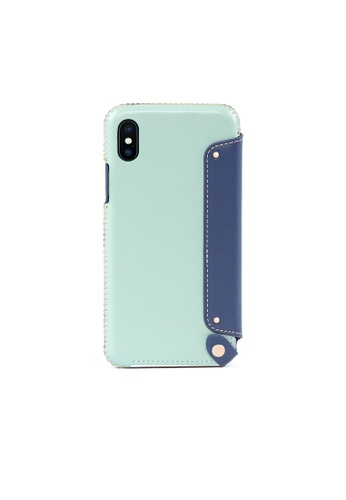 OBX blue Seafoam iPhone Xs Max Leather Folio Case DABFEACCEB742DGS_1