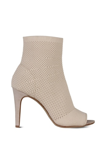 London Rag beige Nude Ankle Length Stiletto Heel Boots BFE9CSH55CC0AFGS_1