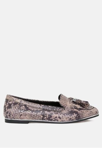 London Rag 多色 多流蘇配金色流蘇搭扣 - 圓形芭蕾舞鞋 7001CSH0022181GS_1