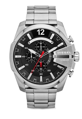 Diesel silver Diesel Mega Chief Stainless Steel Watch DZ4308 DI095AC35UCYMY_1
