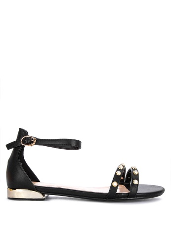 17e607549 Shop Sofab! Eli Flat Sandals with Pearl Detail Online on ZALORA ...