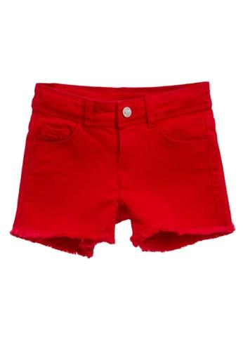 OVS red Solid Colour Lace Denim Shorts 5D2C9KAABC0C51GS_1