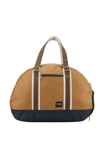 G.ride beige and navy Baya Weekend Bag D41FBAC0605BE1GS_1
