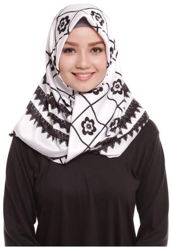 Mybamus Ziggy Square Hijab Satin White