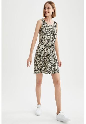 DeFacto black Sleeveless Mini Dress 74F82AA714C43CGS_1