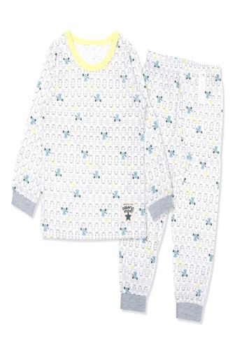 Organic mom grey Organic Cotton Sean Robot Lightweight Long Sleeves Pjs 60156KA38143A6GS_1