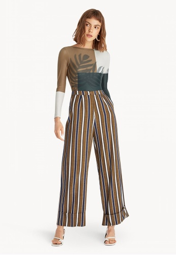 afdbc003bb80c Buy Pomelo Sea Salt & Vinegar Long Sleeve Swimsuit - Brown Online on ZALORA  Singapore