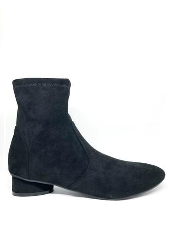 Twenty Eight Shoes 黑色 仿猄皮小踭短靴3096 B6F71SH7638902GS_1