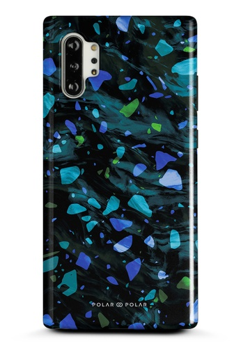 Polar Polar blue Ocean Terrazzo Gem Dual-Layer Tough Case Glossy For Samsung Galaxy Note10 Plus 99CC4ACBE18D54GS_1