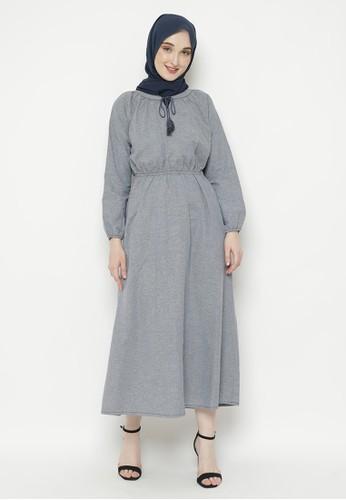 AZZA navy Hanifah Dress CBC88AABC6D963GS_1