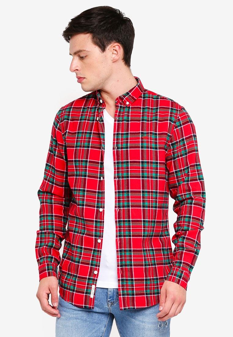 Shirt River Island Red Red Check Bw1q74xf