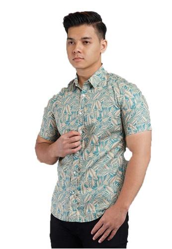 UA BOUTIQUE green Short Sleeve Shirt Batik SSB119-071 (Green) 16FB5AA6772DCAGS_1