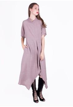 harga Turtleneck Asymmetric Dress Zalora.co.id