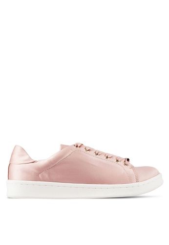 Miss Selfridge pink Elodie Satin Trainers MI665SH0RQJAMY_1