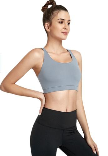 B-Code grey ZWG7007Lady Quick Drying Running Fitness Yoga Sports Bra -Grey 7414DUS98E83CCGS_1