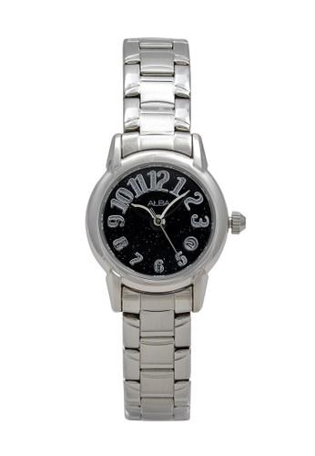 Alba silver ALBA Jam Tangan Wanita - Silver Black - Stainless Steel - AXT269 DB7E5ACCB4F4DBGS_1
