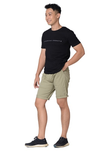 Praise brown Solid Colored Shorts EED29AACD9D7B3GS_1