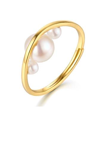 SUNSET 金色 Premium 9K Plate Gold  Pearl Ring 03C18AC1B28C34GS_1